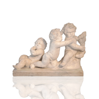 "Hand-carved French marble ""Punti trio"", 1789."