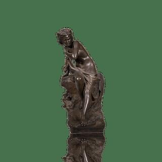 """Antonio Ugo [1870-1956] Italian Sculptor Classical Nude Woman """"Susanna"""""""