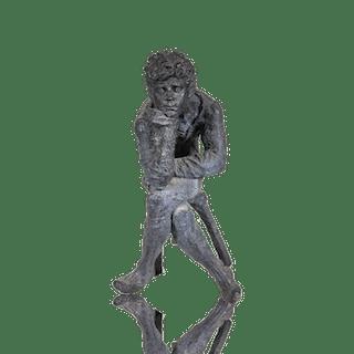 """The Thinker"" American School Bronze Sculpture circa 1960's"