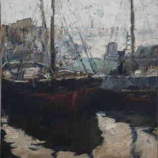 "Oscar Antonio Vaz [1909-1987] Argentinian impressionist artist ""Barracas"