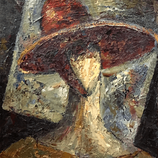"""Russian School Modernist Painting """"Abstract Woman"""" circa 1920"""