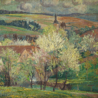 """American School """"Approaching Storm in Spring"""", 1928"""