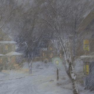"American School ""Warm Light in Winter"" circa 1900"