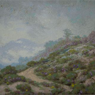 """Harry Victor Law [1866-1952] California Impressionist """"Souvenir from"""