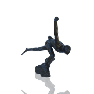 """""""The Skater"""" Bronze circa 1920"""