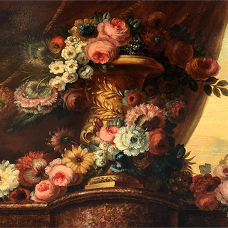 "French School ""Flowers by the Window"" circa 1800"