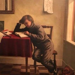 "Wesley Vernier [born 1820] California Artist ""The Young Student"" circa 1860"