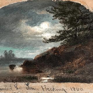 "Hudson River School ""Moonlight Landscape"", 1865"