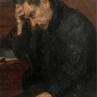"Telemaco Signorini [1835-1901] Italian Painter ""Lost in Thought"", ca.1880s"