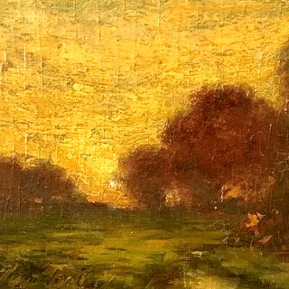 "William King Amsden [1859-1933] American ""Fall Sunrise"" ca.1900"