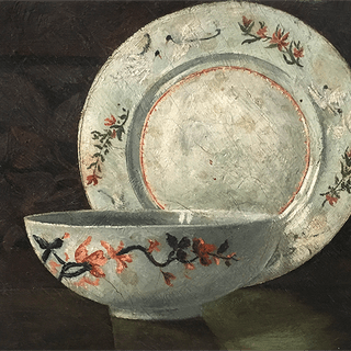 "American Aesthetic Movement ""Still life with Plate and Bowl"", ca.1890"