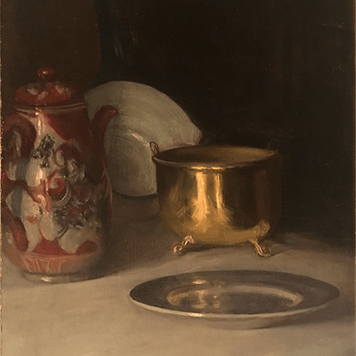 """American School """"Objects on the Table"""", ca.1880s"""