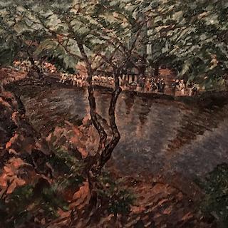 "Arthur Schwieder [1884-1965] American Painter ""Central Park"", ca.1930"
