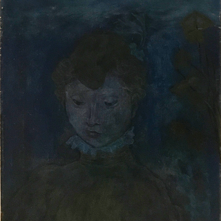 "American school modernist ""Blue woman"", ca.1930."
