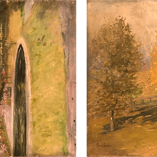 Frank Fowler [1852-1910] American impressionist painter double sided