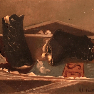 "American school ""Old shoes and books"", 1886."