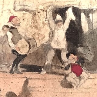 "Paul Gavarni [1804-1866] French illustrator ""The performance"", ca.1840."