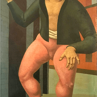 "School of Giorgio De Chirico ""Young man"", ca.1910."