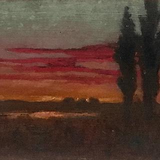 Augusto Alfredo Carman Castro [1881-1963] landscape painting Puesto