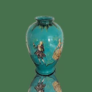 """Carbone Hall Italian ceramic vase """"L'Opera"""", ca.1930s."""