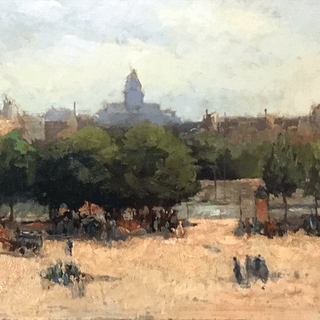 American or Western European landscape painting : The park, ca.1900.