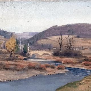 Clifford H. Merritt [1884-1962] Pennsylvania landscape painting :