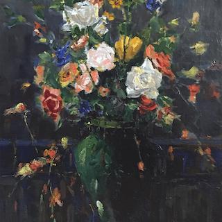 American school : impressionist still life, circa 1890.