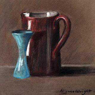 Wynna Wright [1899-1980] illustrator : Modernist still life, 1919.