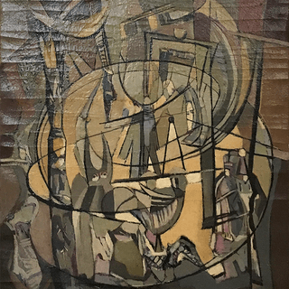 Eastern European modern abstract : Center ring circus, 1958.