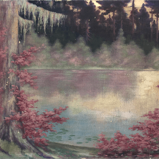 Canadian painter : Forest lake, ca.1920.
