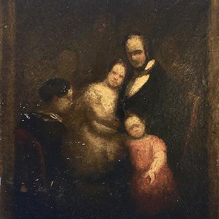 Spanish school : The rabbi's family, ca.1830.