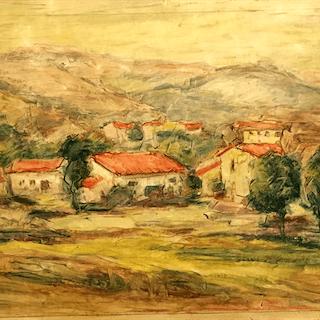 "South American School ""Hillside Town"" circa 1930"