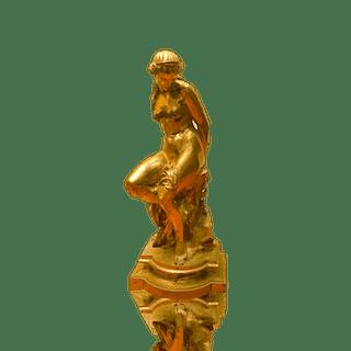 Pierre Alexandre Schoenewerk [1820-1885] bronze : Woman bound, ca.1870.