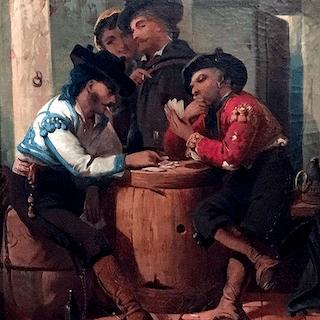 American school : Card players, ca.1860.
