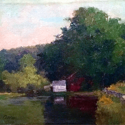 Genevieve Allis [1864-1914] American : Along the lake, ca.1890.