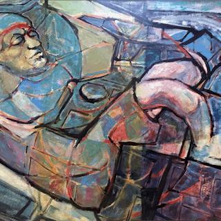 Bonnie Whittingham [1921-1997] :Resting clown, ca.1940s.
