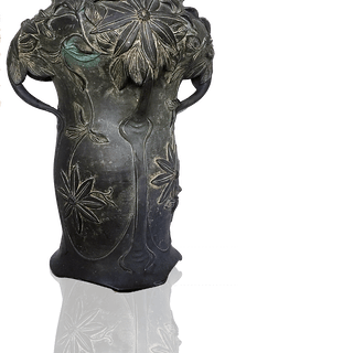[unattributed] French Art Nouveau : Bronze vase, ca.1880.