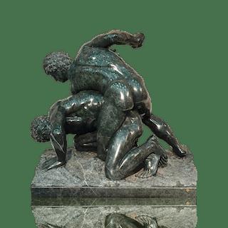 Ferdinando Vicchi [1875-1945] Italian sculptor : The wrestlers, ca.1900.