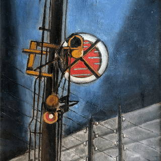 Frans Henri Boers [1904-1988] Dutch : Rail-road lights, 1928.