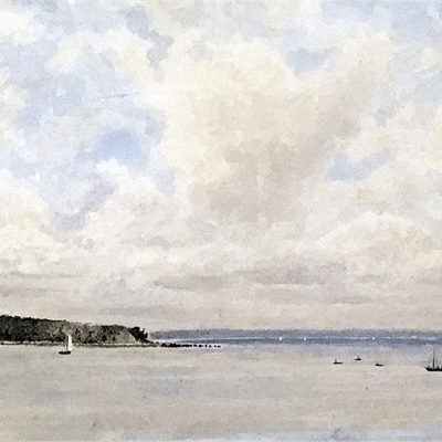 George Safford Waters [1864-1938] American : Long Island sound, ca.1900.