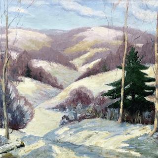 Angelo Scibetta [1902-1962] American : Snowy mountain, ca.1940.