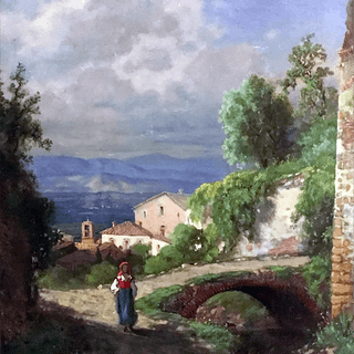 George Edward Candee [1837-1907] : Peasant girl in the Italian alps, ca.1870s.