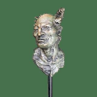 Javier Marín [born 1962] Mexican : Male bust, Mosaico, ca.2000.