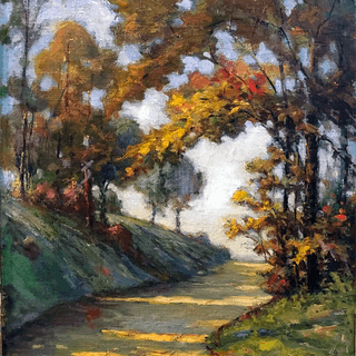 Karl A Kappes [1861-1943] American painter : Country road, ca.1900.