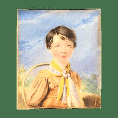 Moses Haughton [1734-1804] English painter : Front hair tuft—portrait