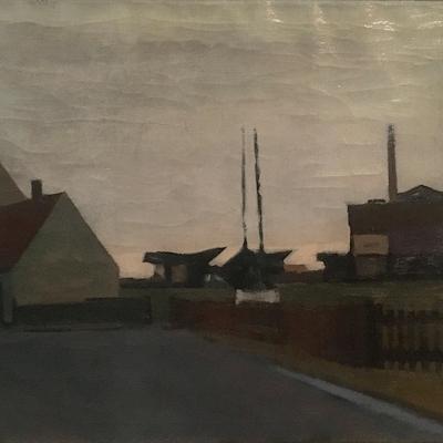 [unattributed] : Modernist cityscape, 1943.