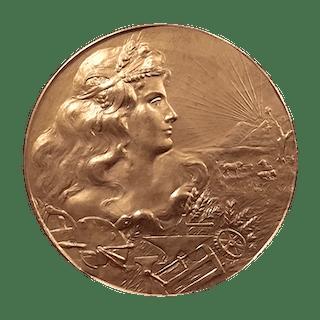 [unattributed] bronze commemorative medal : Esposizone Nazionale Estiva