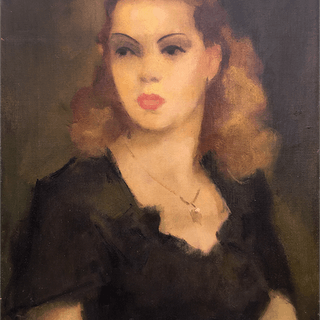 Gaston Jarry [1889-1974] Argentine artist : Young beauty, 1949.