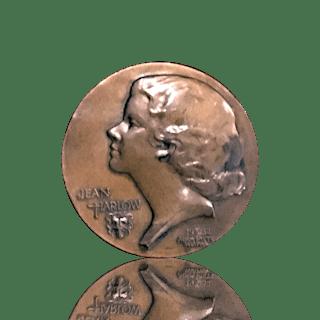 Adam Pietz [1873-1961] American Sculptor commemorative bronze : Jean