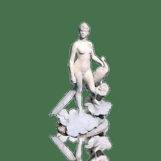 Alexandre Falguiere [1831-1900] French sculptor : La Femme au paon